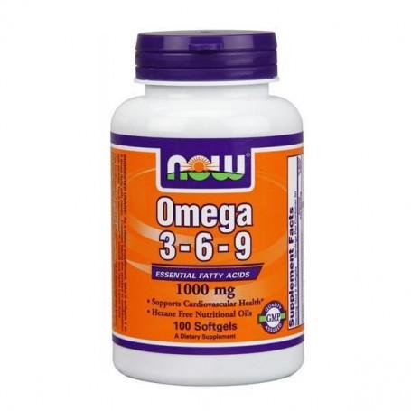 Now Foods Omega 3-6-9 1000mg 100 kapsúl