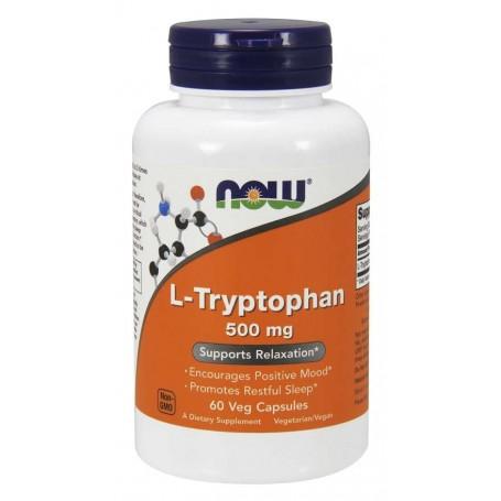 NOW Foods - L-Tryptophan 500 mg Veg 60 kapseln