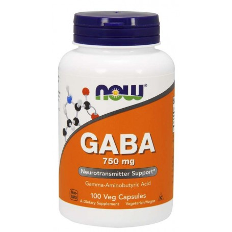 NOW Foods - GABA 750mg 100 kapsúl