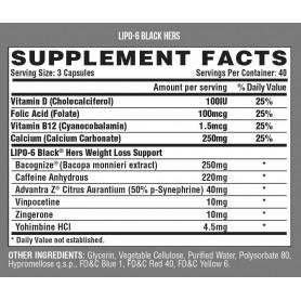 Nutrex - Lipo 6 Black Hers USA 120 kapsúl