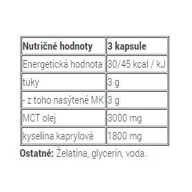 METABOLIC NUTRITION - MCT 3000 180 kapsúl