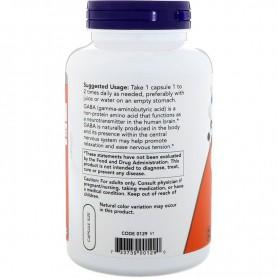 NOW GABA 750 mg, 200 kapsúl