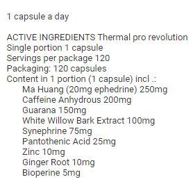 Revange Nutrition - Thermal pro revolution 60 kapsúl