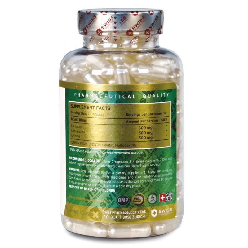 Swiss Pharmaceuticals - BCAA 2:1:1 - 180 kapsúl
