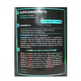Yohimbine HCl 10 mg USA SUPPLEMENTS LLC
