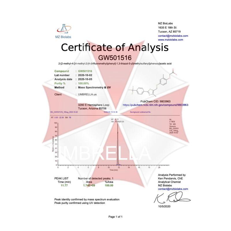 UMBRELLA LABS SARM CARDARINE GW-501516 LIQUID | 30 ML
