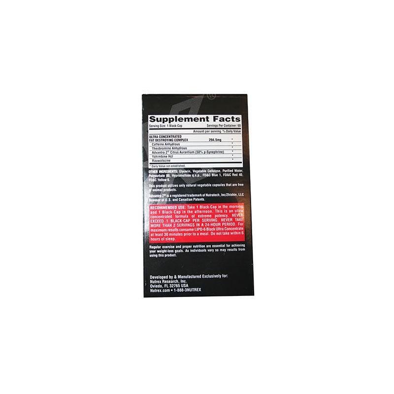 Nutrex - LIPO 6 Black Ultra Concentrate 60kaps -americka verzia (USA VERSION)
