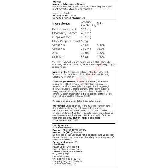 Weider - Immune Advanced 60 kapsúl