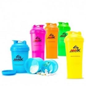 AMIX Shaker Monster Bottle Colour -600 ml farba neonovo oranžová