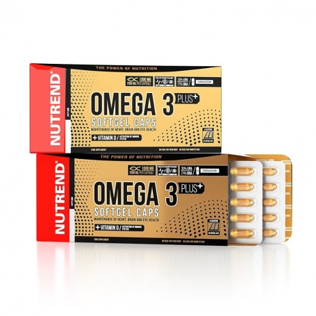 Nutrend Omega 3 plus softgel caps 120 cps.